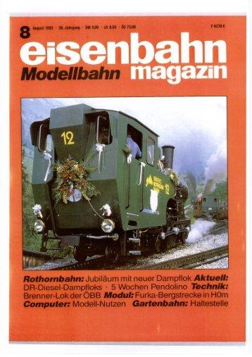 Eisenbahn Magazin, August 1992.pdf - DLM AG