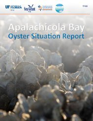 Apalachicola Bay Oyster Situation Report - US Drought Portal