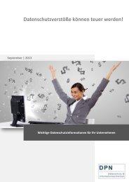 Ausgabe 09/13 – Datenschutzverstöße können teuer werden!