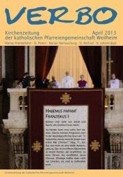 Kirchenzeitung April 2013 der katholischen Pfarreiengemeinschaft ...