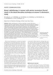 Breast radiotherapy in women with pectus excavatum ... - Quantason