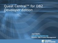 Quest Central™ for DB2 Developer Edition