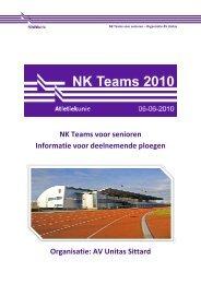 NK Teams voor senioren Informatie voor deelnemende ... - Unitas