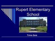 Test Your Rupert Elementary School Trivia Knowledge