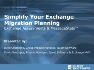 Simplify Your Exchange Migration Planning - Quest Software