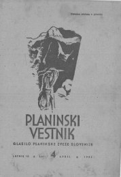 April - Planinski Vestnik