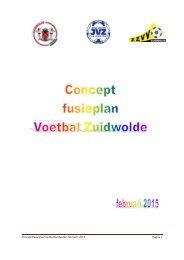 Concept fusieplan Voetbal Zuidwolde februari 2015