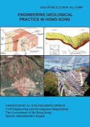 ENGINEERING GEOLOGICAL PRACTICE IN HONG KONG