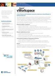 A Única Plataforma de Virtualização Corporativa ... - Quest Software