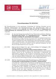 Wasserbauseminar WS 2010/2011 - Leichtweiß-Institut für Wasserbau