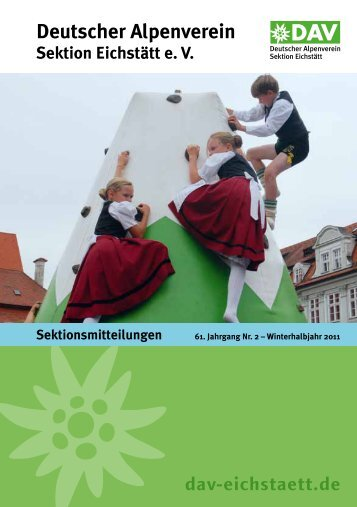 Mitteilungsblatt 61 - Winterhalbjahr 2011 - DAV Eichstätt