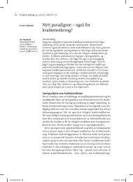 Nytt paradigme – også for kvalitetssikring? - Norgesuniversitetet