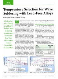 Temperature Selection for Wave soldering with Lead-Free Alloys