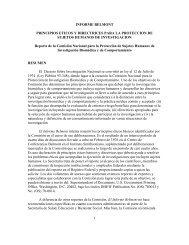 1 INFORME BELMONT PRINCIPIOS ETICOS Y DIRECTRICES ...