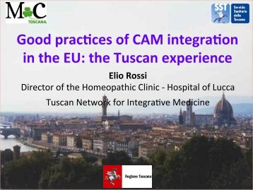 the Tuscan experience - International Council of Medical ...