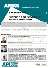 south west forum - The Australian Property Institute