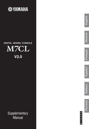 M7CL V2.0 Supplementary Manual - Yamaha Downloads