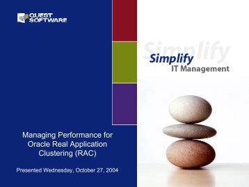 Managing Performance for Oracle Real Application Clustering (RAC)