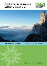 Mitteilungsblatt 59 - Winterhalbjahr 2010 - DAV Eichstätt