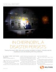 in chernobyl, a disaster Persists - Thomson Reuters