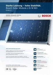 Bosch c-Si M 60+ - Bosch Solar Energy AG