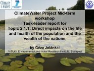 WP2 Direct Impacts - Climatewater
