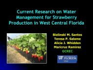 Improving Water Management/Freeze Protection ... - Florida Ag Expo