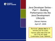 Java Developer Series - Quest Software