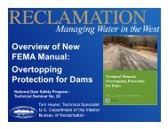 Overview of New FEMA Manual: Overtopping Protection for Dams