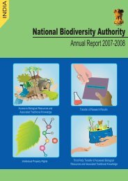 NBA Annual report 2008 3.pmd - National Biodiversity Authority