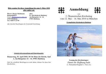 Anmeldung Ök. Kirchentag München - Evangelischer Kirchenkreis ...