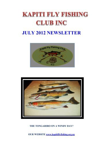 JULY 2012 NEWSLETTER - Christchurch Fishing and Casting Club