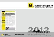 bi-Ausschreibungsblatt Mediadaten 2012
