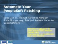 Automate Your PeopleSoft Patching - Quest Software