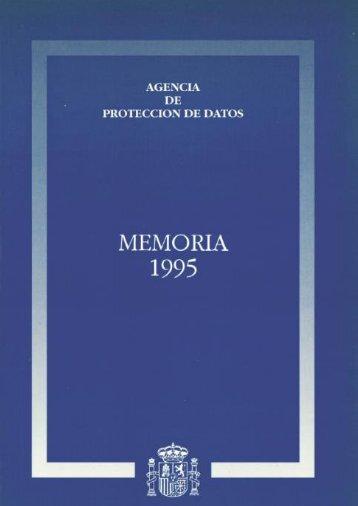 1995 - Agencia Española de Protección de Datos