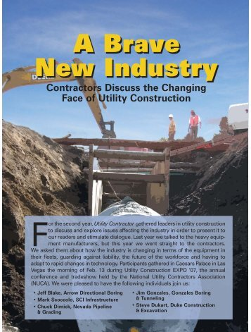 cover story - Utility Contractor