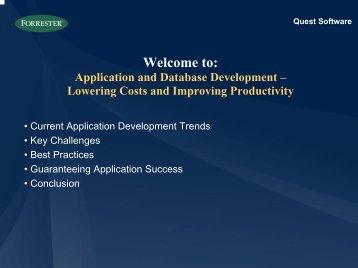 Application Development - Quest Software