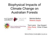 Biophysical Impacts of Climate Change on Australian Forests