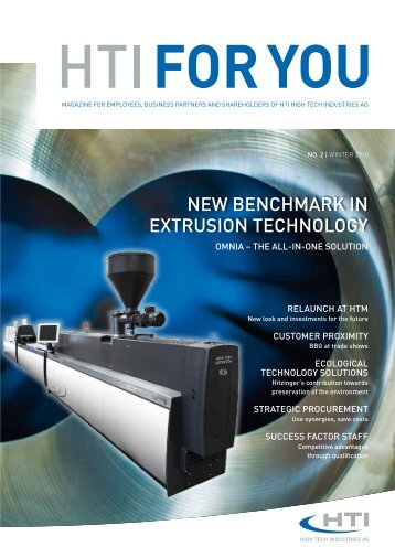 New BeNchMARk IN extRusION techNOLOGy - HTI - High Tech ...