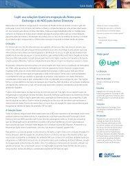 Light usa soluções Quest em migração do Notes ... - Quest Software