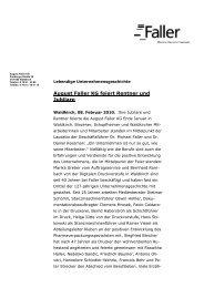 August Faller KG feiert Rentner und Jubilare