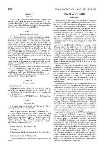 Decreto-Lei n.º 145/2007 - Instituto Nacional de Aviação Civil