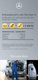 Profesionální péče o vaše Vito/Viano V6 - Mercedes-Benz PRAHA