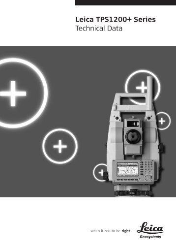 Leica TPS1200+ Series Technical Data
