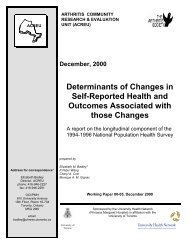 Determinants of Changes in Self-Reported Health and Outcomes ...