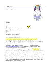 Brief an den Datenschutzbeauftragten - Dr. med. dent. Wolfgang ...