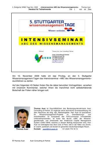ABC des Wissensmanagements - Auer Consulting & Partner