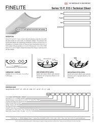 Series 12-P, S12-I Technical Sheet - Finelite