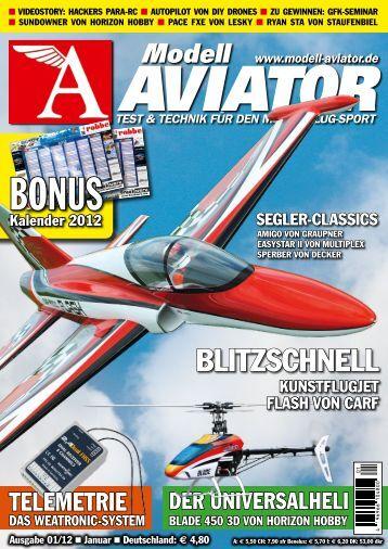 Modell AVIATOR Blitzschnell Kunstflugjet