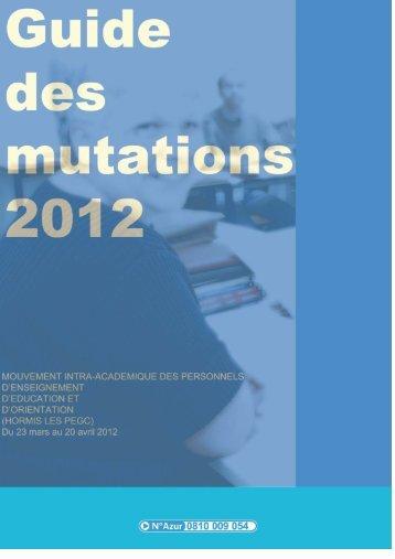 GUIDE DES MUTATIONS 2012 - Siaes.com